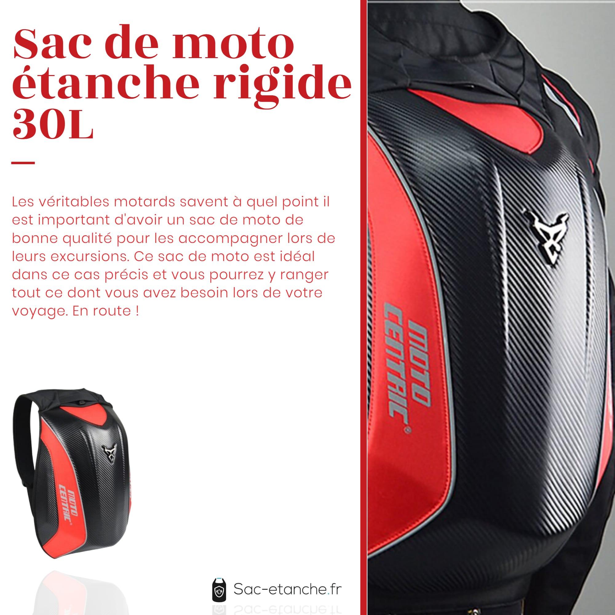 sac de moto carbone rouge