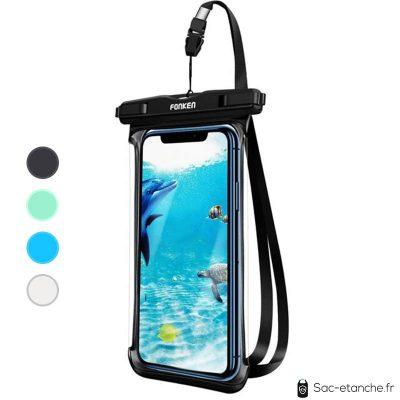 pochette smartphone étanche noire