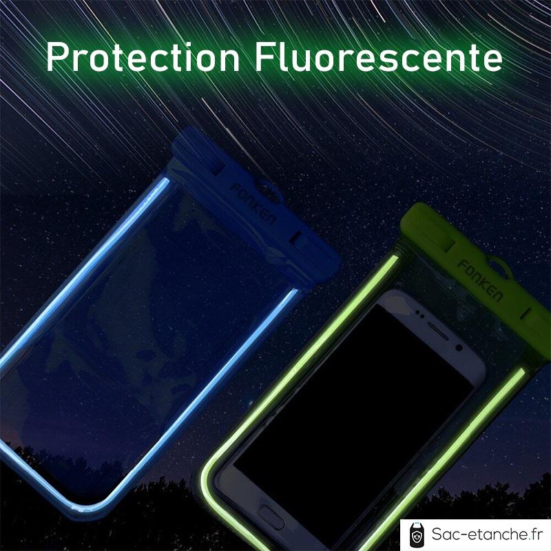 pochette étanche fluorescente mobile