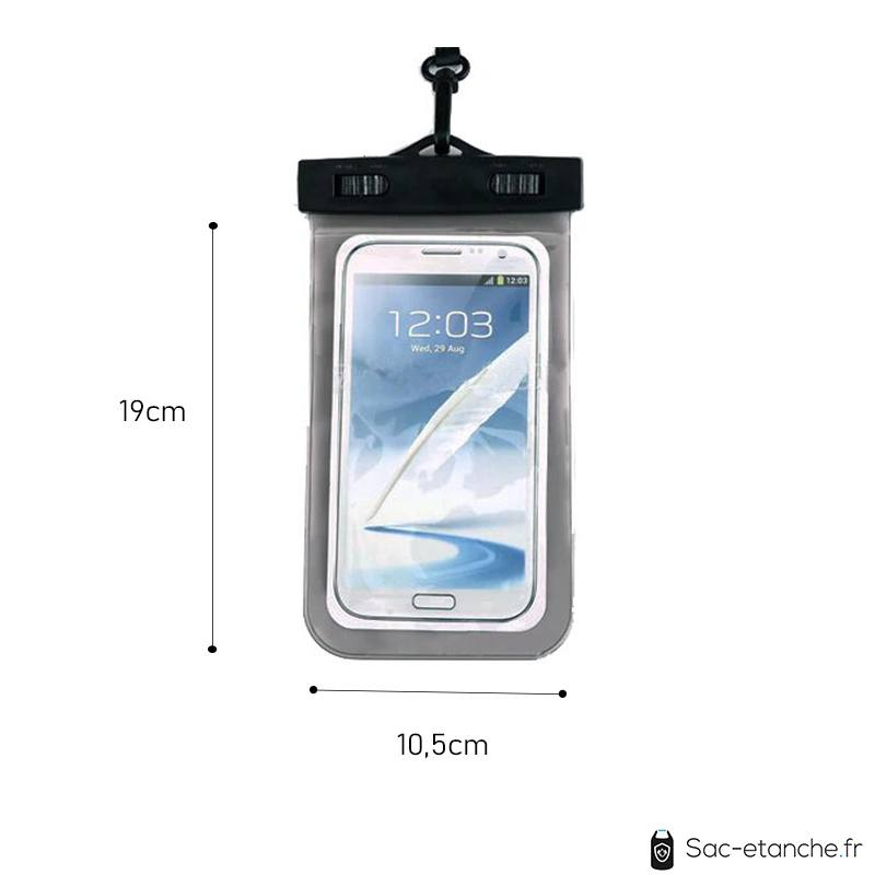pochette smartphone dimensions