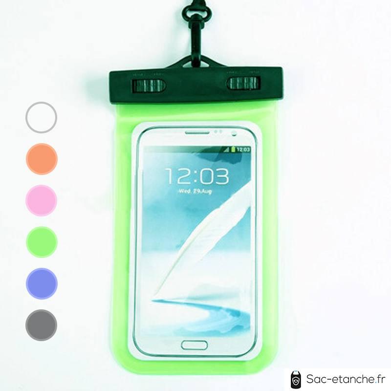 pochette étanche verte pour téléphone