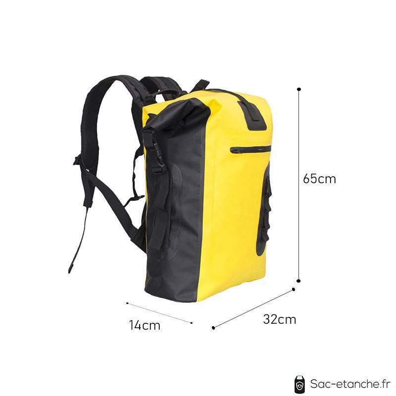 sac a dos étanche jaune dimensions