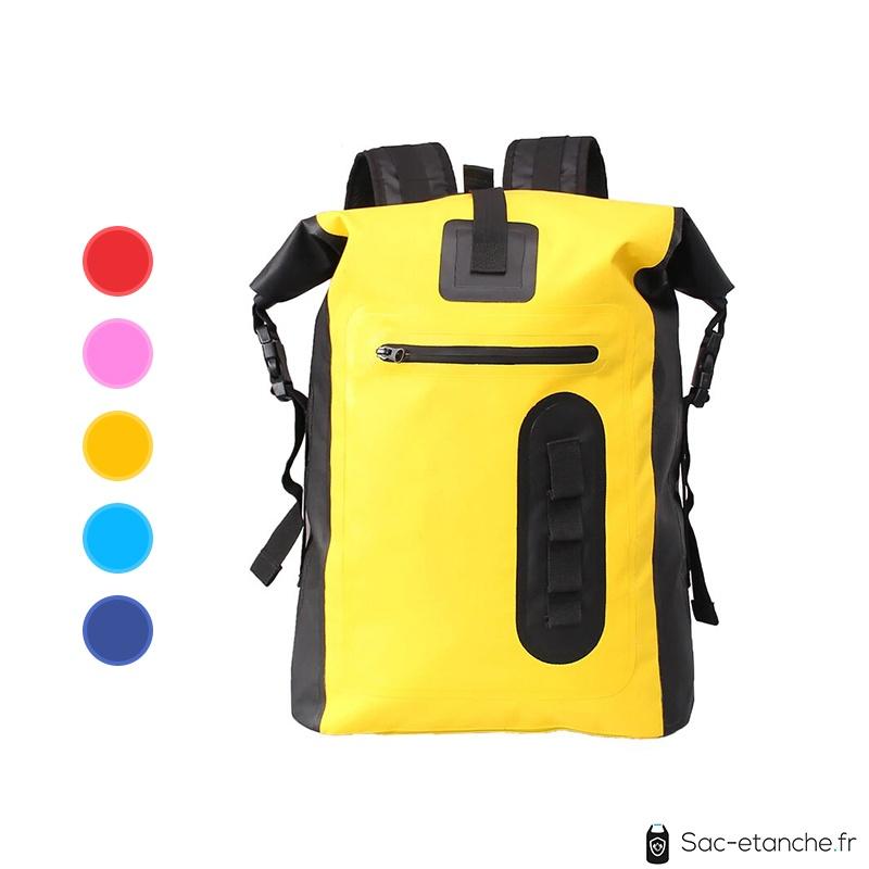 sac a dos étanche jaune
