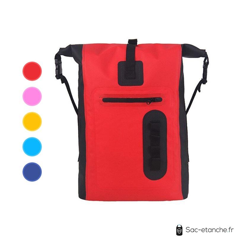 sac à dos étanche rouge