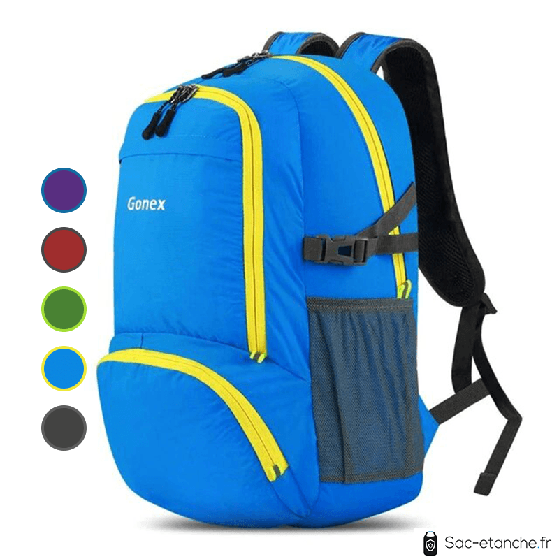 sac à dos étanche bleu