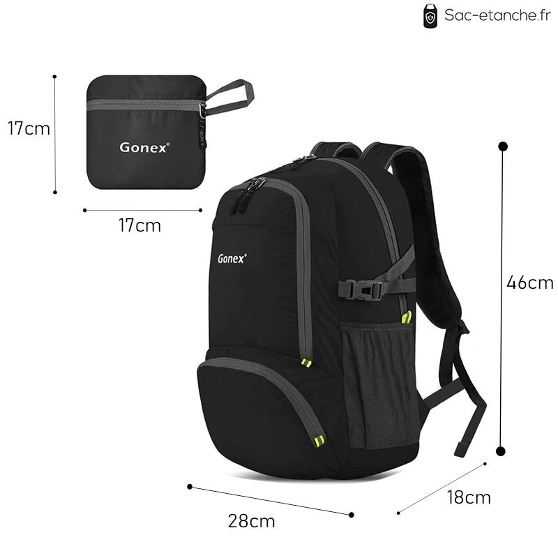 sac à dos étanche dimensions
