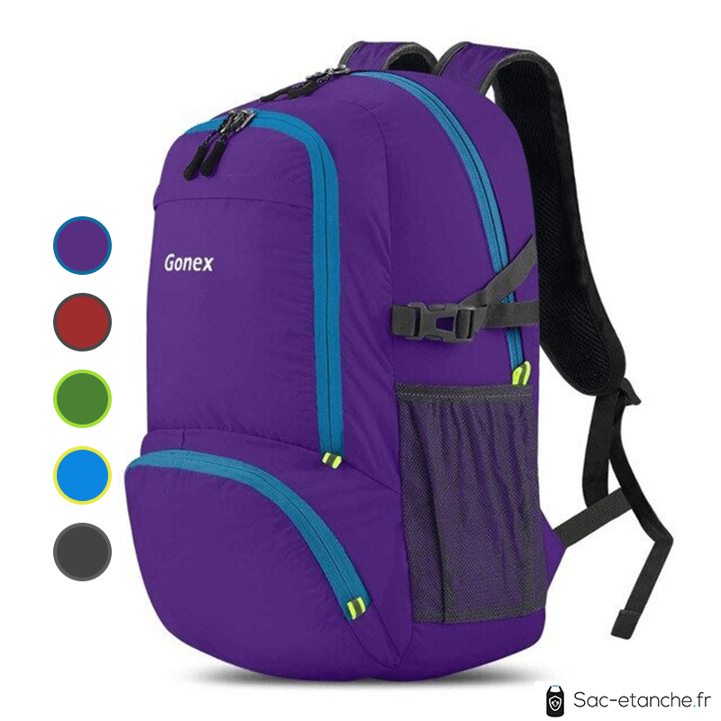 sac à dos étanche violet