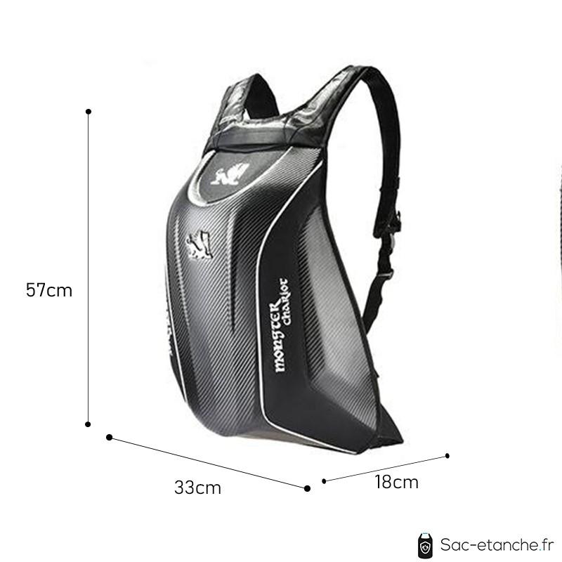 sac moto coque carbone dimensions