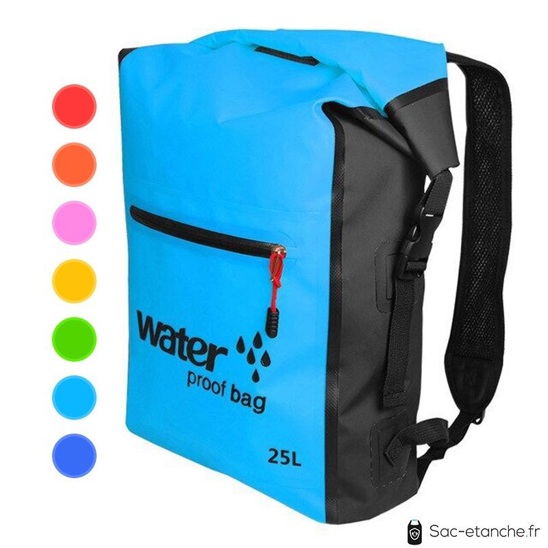 sac à dos étanche 25 litres bleu azur