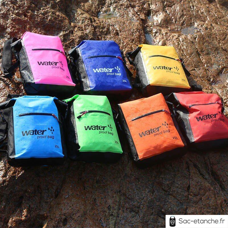 sac à dos étanche 25 litres toutes les couleurs