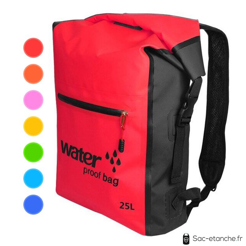 sac à dos étanche 25 litres rouge