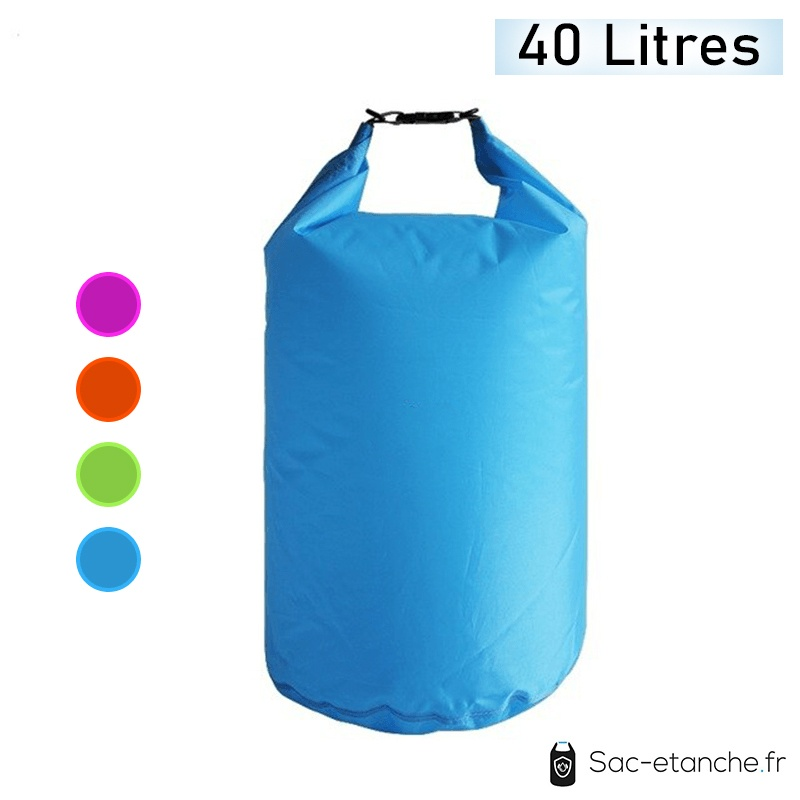 sac étanche bleu 40 litres