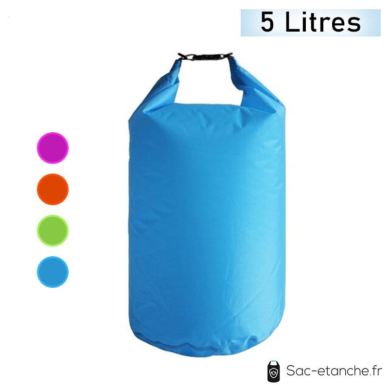 sac étanche bleu 5 litres