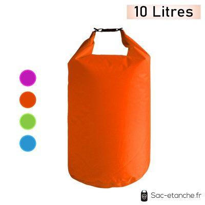 sac étanche orange 10 litres