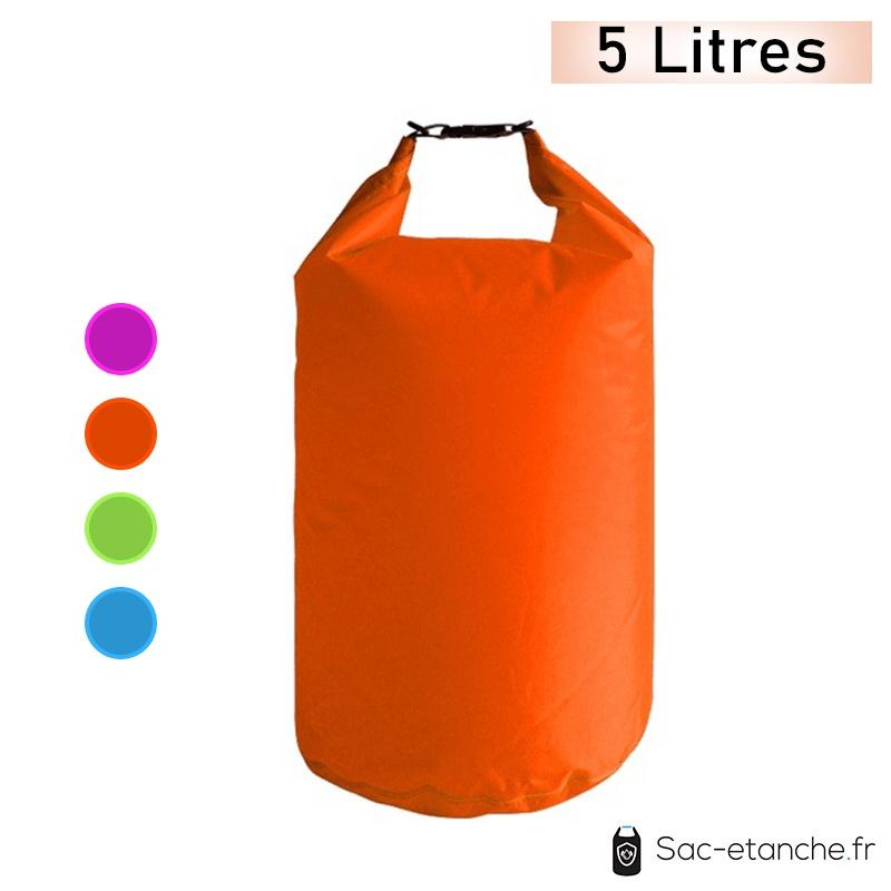 sac étanche orange 5 litres