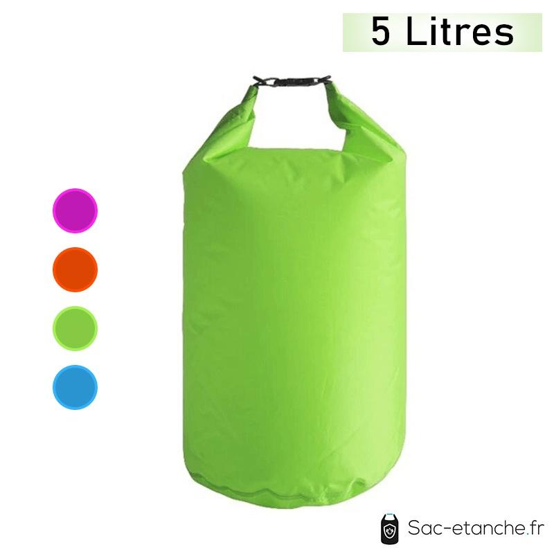 sac étanche vert 5 litres