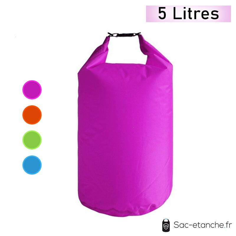 sac étanche violet 5 litres