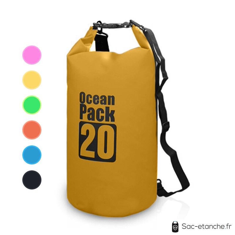 sac etanche ocean cap 20l jaune