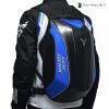 sac de moto carbone bleu