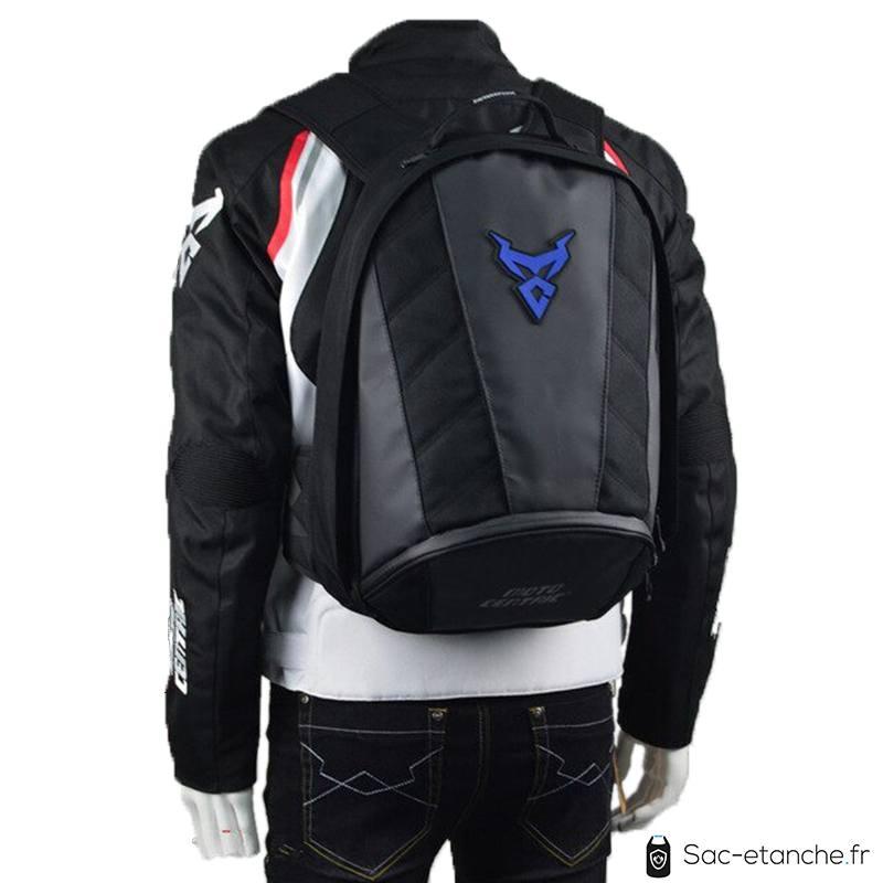 sac moto bleu