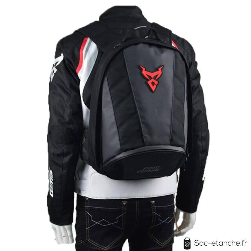 sac moto rouge