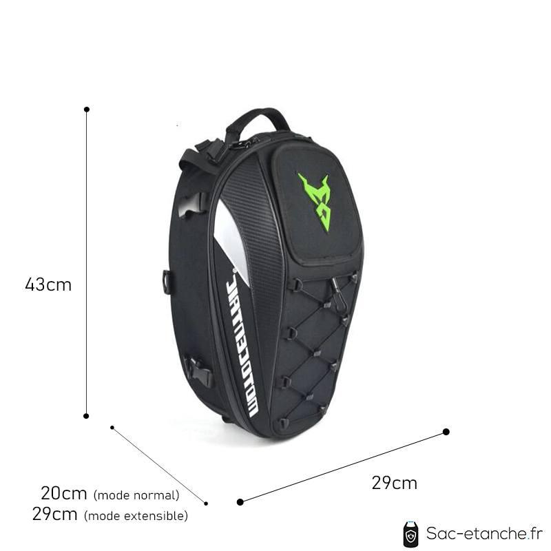 sac moto extensible dimensions
