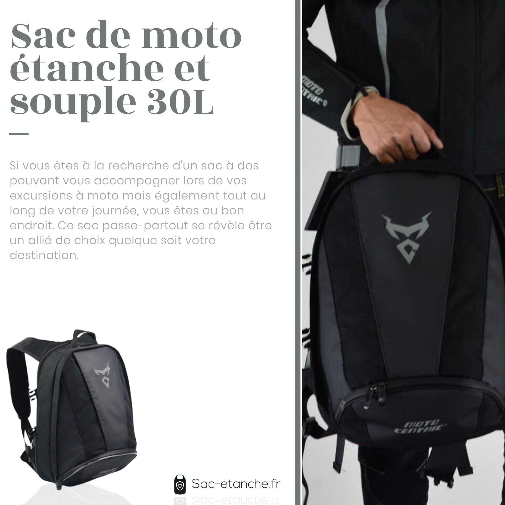 sac moto gris