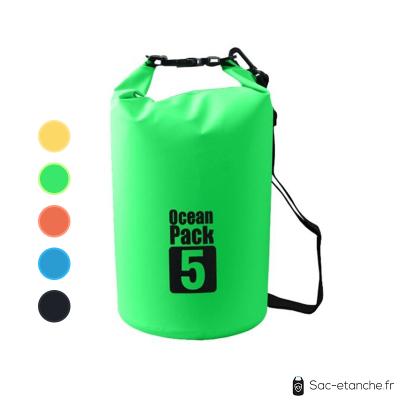 sac étanche vert ocean pack 5l