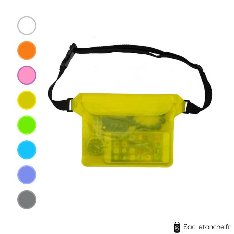 pochette étanche waterproof jaune