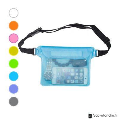 pochette étanche waterproof turquoise